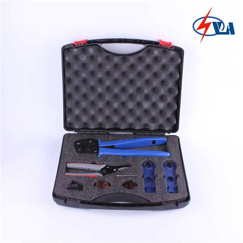 PV-TB-T solar tool box with MC4 Crimping Tools and spanner for MC4 mc4 ly2546b easy type solar crimping pliers tools pv connector wire crimpers solar terminal crimping tool 2 5 6mm2 for mc4