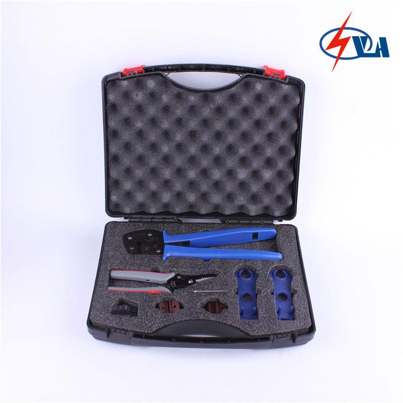 PV-TB-T solar tool box with MC4 Crimping Tools and spanner for MC4 solar crimping tool kits with 2 5 6 0mm2 crimping tool mc3 mc4 crimping die solar tool set with mc4 mc3 crimper stripper cutter