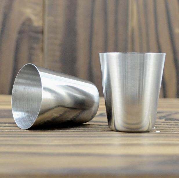 30 ml Mini Stainless Steel Wine Glasses Shot Glasses Barware Cup Use Travel Camping Whisky Flask Wine Kit Cups  10pcs/lot