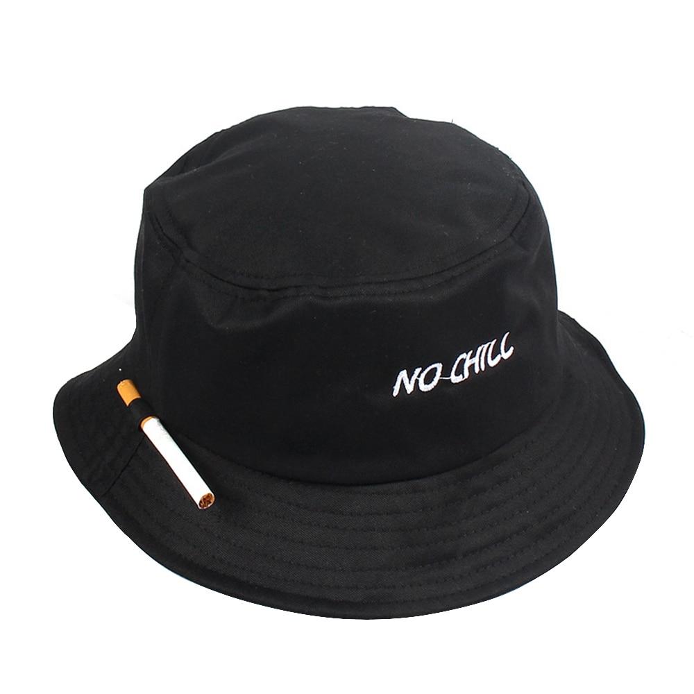 f73f70c8ab73c Unisex Bucket Hat Fisherman Caps Leisure Fashion Women Cigarette Embroidery  Bob Caps Cotton Outdoor Beach Sun