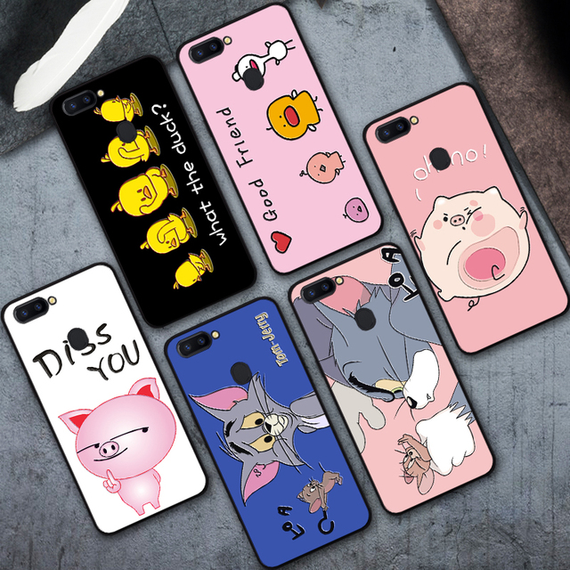 new products 82e44 0991e US $0.98 20% OFF|Cute Pig Phone Case For OPPO R9s R9s Plus Cartoon Duck  OPPO R11 R11 Plus Cases Good 3D Silicone Cover For OPPO R11s R11s Plus-in  ...