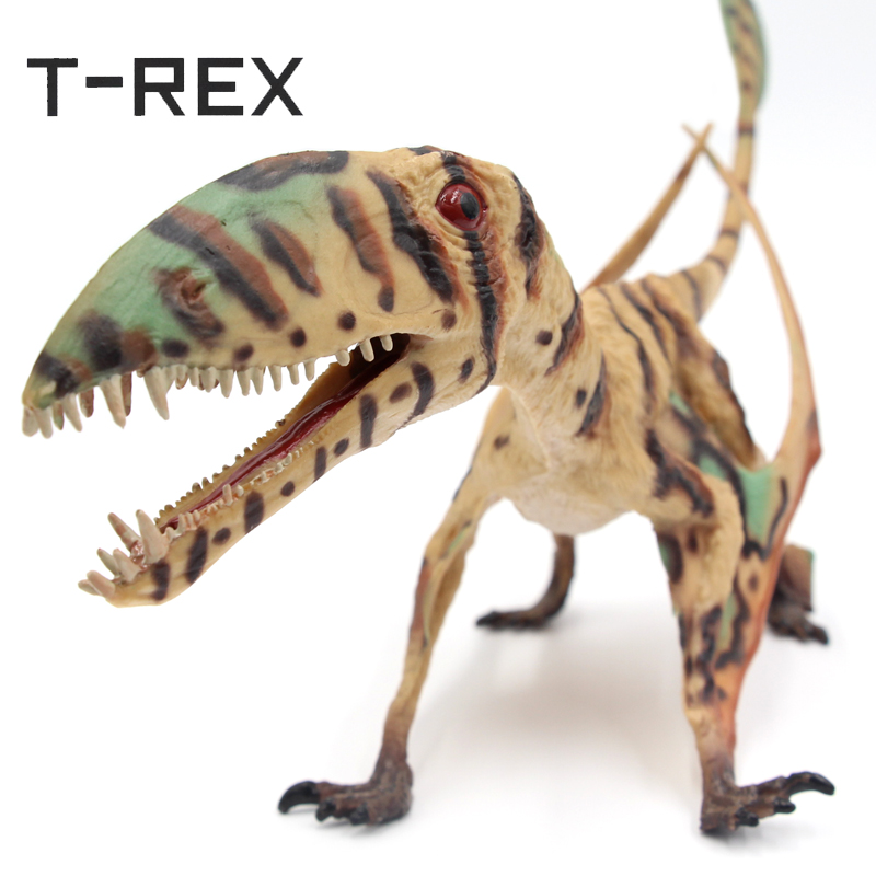 T-REX Collectible Jurassic World Dinosaur Model Toys Dimorphodon Pterosauria Solid PVC Animal Action Figure Gifts For Children jurassic world park tyrannosaurus rex velociraptor dinosaur model toys animal plastic pvc action figure toy for kids gifts