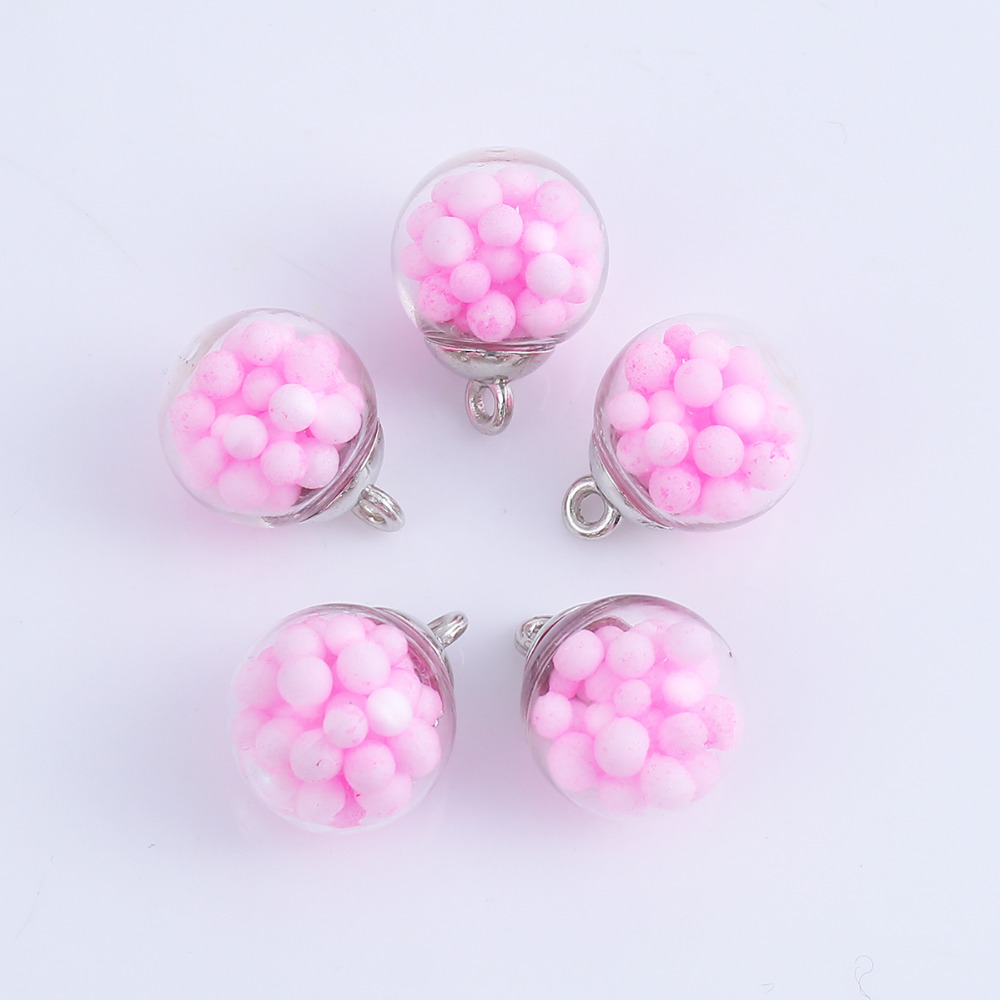 DoreenBeads Transparent Ball Foam Bubble Charms Pendant Glass Round Jewelry Accessories 21mm( 7/8