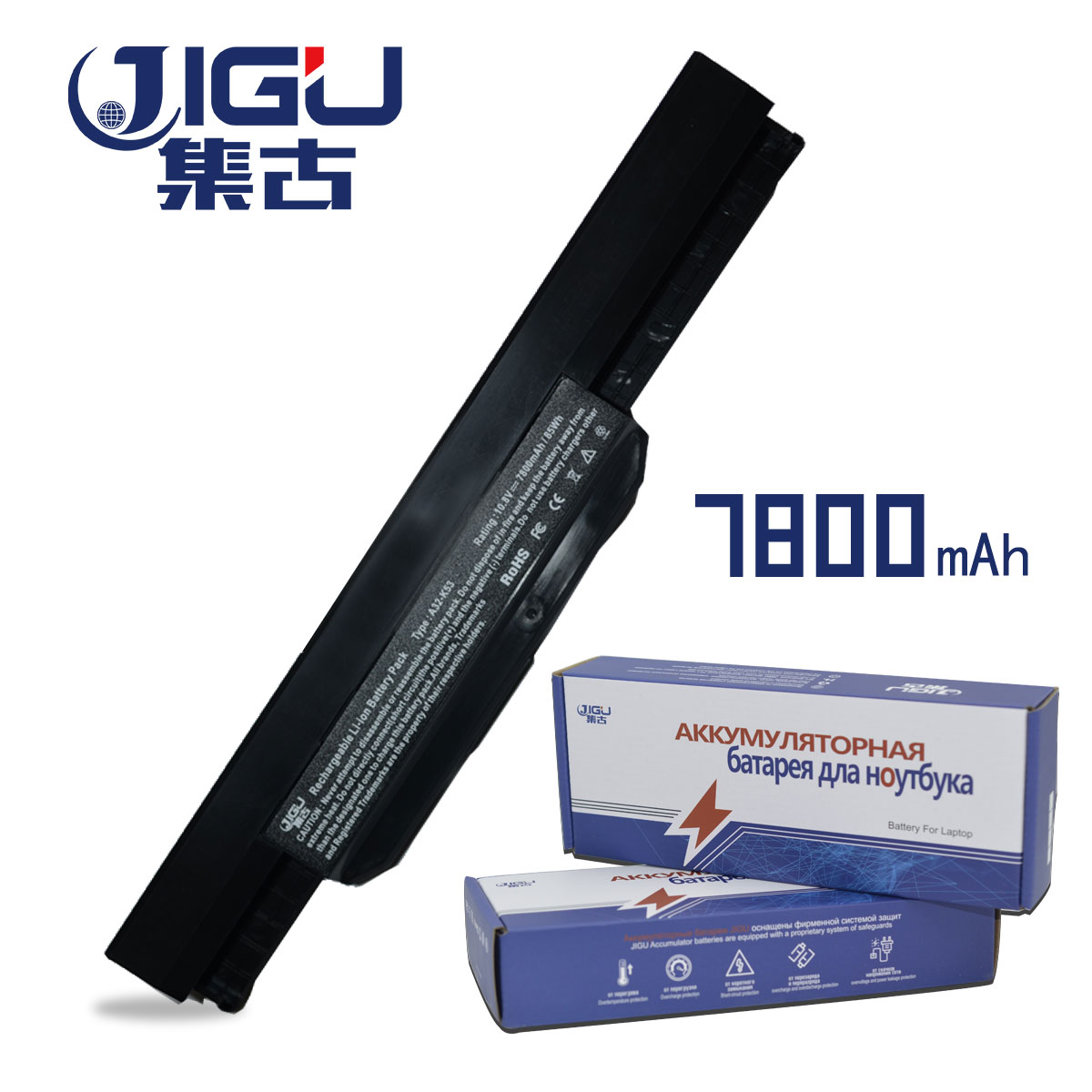 JIGU 9 CELLS Laptop Battery A31-K53 A32-K53 For Asus X84 X54 X54LY A54 A54C A54H A54HY K53 Series