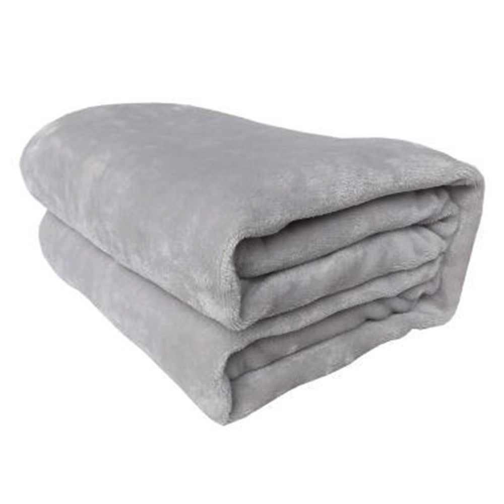 Nyaman Super Lembut Tetap Hangat Flanel Selimut Ukuran Besar Warna Solid Home Sofa Ranjang Kantor Mobil Selimut Tekstil
