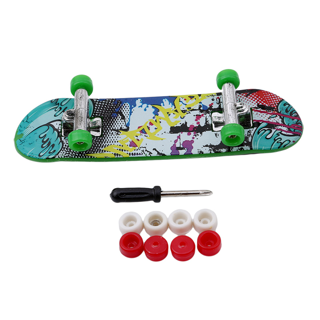 New Creative Mini Finger Skateboard Fingerboard Alloy Stents Scrub Finger Scooter Skate Boarding Kids Toys Gift Random Color