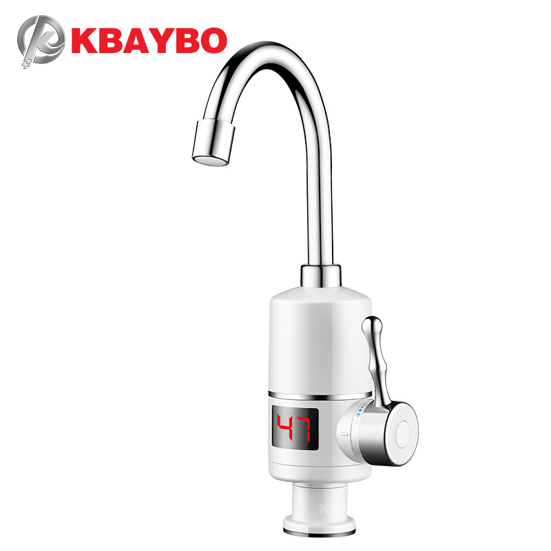 KBAYBO Electric Water Heater 3000W Instant Water Heater Tankless Hot Heating Water Tap Bathroom Kitchen Water Faucet