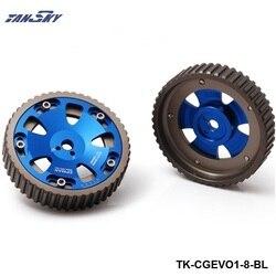 2 sztuk regulowany Cam biegów aluminium mechanizm rozrządu zestaw dla Mistubishi Lancer EVO 1 2 3 4 4G63 4G63T silnik TK-CGEVO1-8-BL