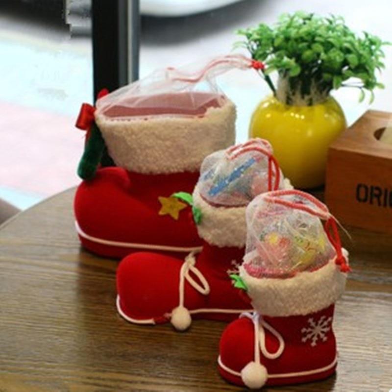 Velké vánoční ozdoby houpací boty ponožky kreativní dárková krabička Candy dekorativní potřeby