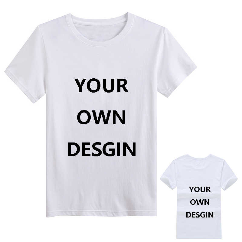 07a711208 Custom Tshirt Men Print Your Own Design logo Picture Short Sleeve Summer  White Casual T shirt