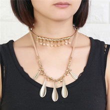 Bohemian Style Popular Multi-layer Leaf Design Necklace Pendant Charm Gold Choker Necklaces For Women Jewelry Accessories Gift