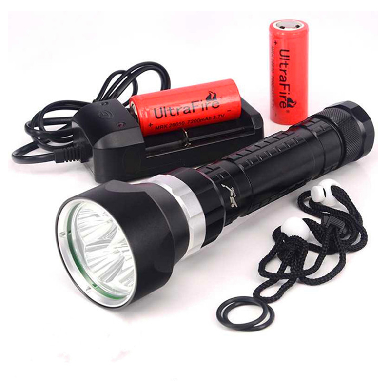 Super Bright LED Diving Torch 4x XML T6 LED 100M Underwater 6000 Lumens Scuba Diving Flashlight Dive Lamp+Battery+Charger sitemap 13 xml