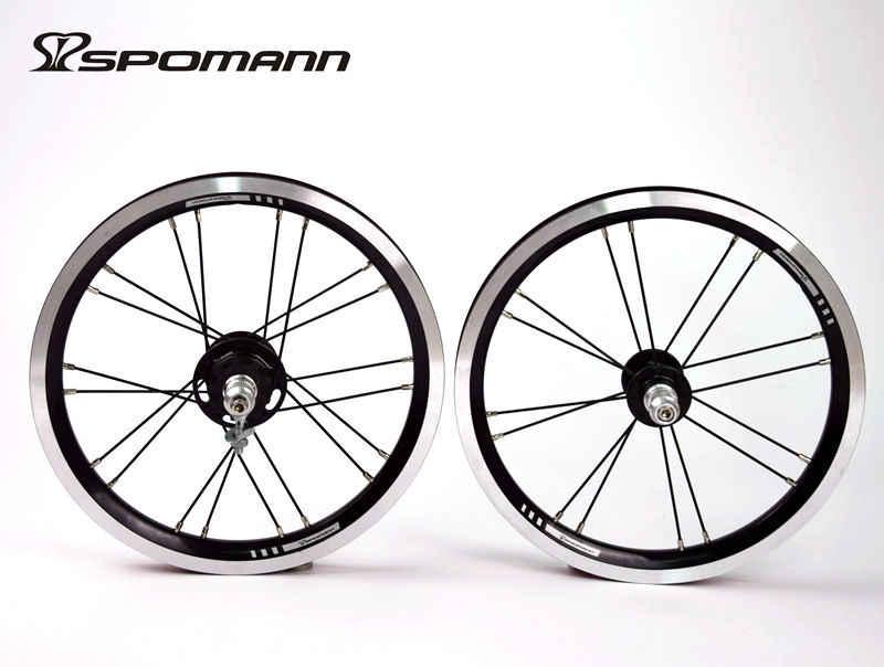 Date SPOMANN 14 pouces vélo pliant alliage V frein BMX vélo pneu jante roues vtt 14er 9 T unique vitesse roue libre livraison gratuite