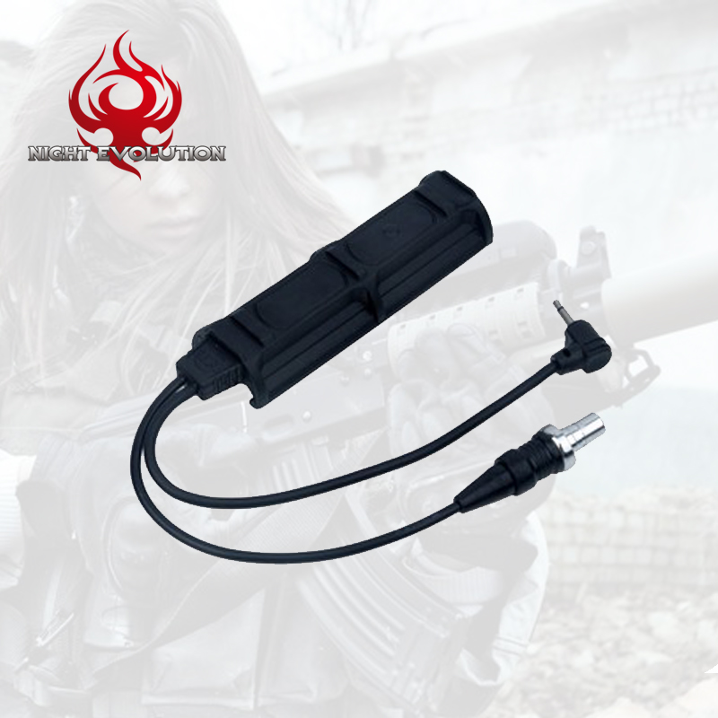 Night Evolution Tactical Remote Switch Weapon Light Tail for Gun Light PEQ NE07011-BK