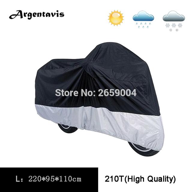 L Cubiertas de Motocicleta 210 T Negro Plata Anti UV Impermeable Transpirable bicicleta eléctrica Campana Carpa Al Aire Libre Cubierta de Protección completa