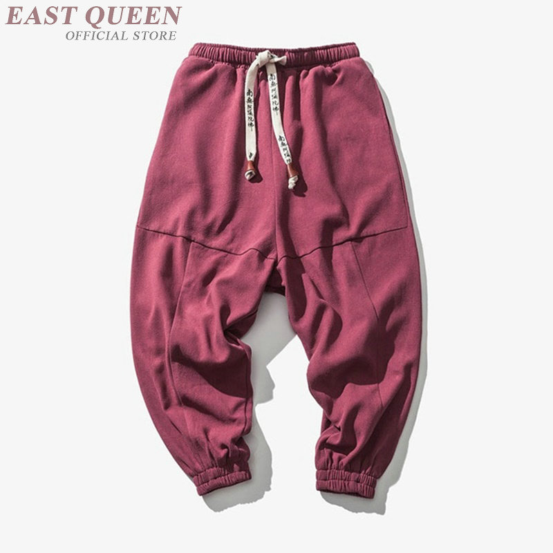 5fbff759c5 Casual harem men jogger pants men fitness trousers male Chinese traditional  cotton knitted loose men Pants bottoms DD467 F-in Bottoms from Novelty &  Special ...