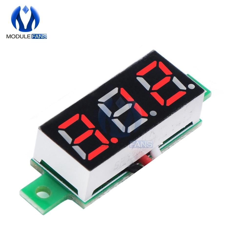 0.28 Inch LED DC 0-100V Red Voltmeter Digital Display Voltage VOLT METER 12V 24V Diy Kit Electronic PCB Board Module