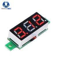 Voltímetro LED de CC de 0,28 pulgadas, voltímetro rojo con pantalla Digital, 12V, 24V, Kit Diy, módulo de placa PCB electrónica, 0-100V