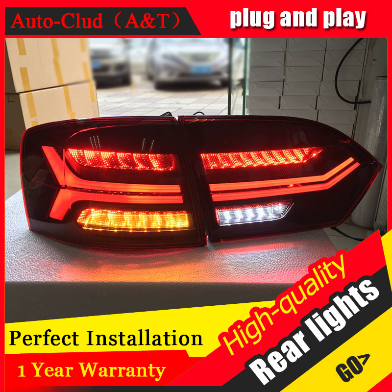 Car Styling LED Tail Lamp 12-14 for VW Jetta Taillights for Jetta Rear Light DRL+Turn Signal+Brake+Reverse auto Accessories le car styling led tail lamp for mondeo led taillights 2013 2015 rear light drl turn signal brake reverse auto accessories