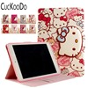 30Pcs Lot Cartoon Cute Hello Kitty Smart Card Slot Filp Stand PU Leather Protective Case Cover