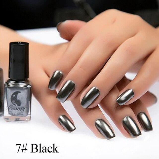 2018 Hottest Mirror Effect Nail Polish Metallic Lacquer Silver Nail ...