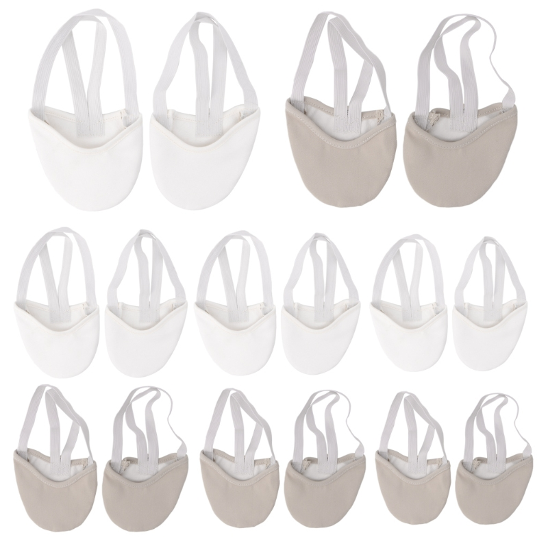 Half Faux Leather Sole Ballet Pointe Dance Shoes Rhythmic Gymnastics Slippers