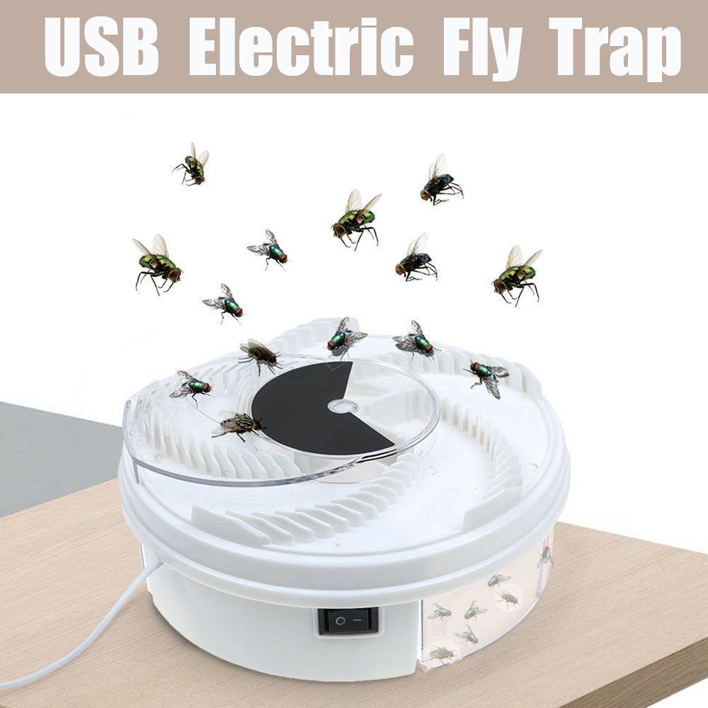 Image 2 - Rotate Insect Traps Fly Trap Electric USB Automatic Fly Catcher Trap Pest Reject Control Catcher Mosquito Flying Anti Killer-in Traps from Home & Garden