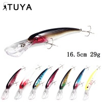 TUYA 8pcs/set Minnow Wobblers Fishing Lure Big Minnow Artificial Bait Hard Lure Trolling Wobbler Deep Water Sea Bass 16.5cm 29g
