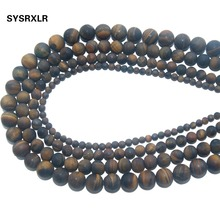 Wholesale Dull Polish Natural Stone Tiger Eye Round Beads For Jewelry Making Charm DIY Bracelet Necklace Material 4 6 8 10 12 MM