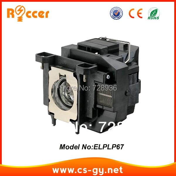 ROCCER Compatible Projector Lamp Bulb ELPLP67 V13H010L67 For Epson EB X14 EB W02 EB X02 EB S12 EB X11 EH TW480