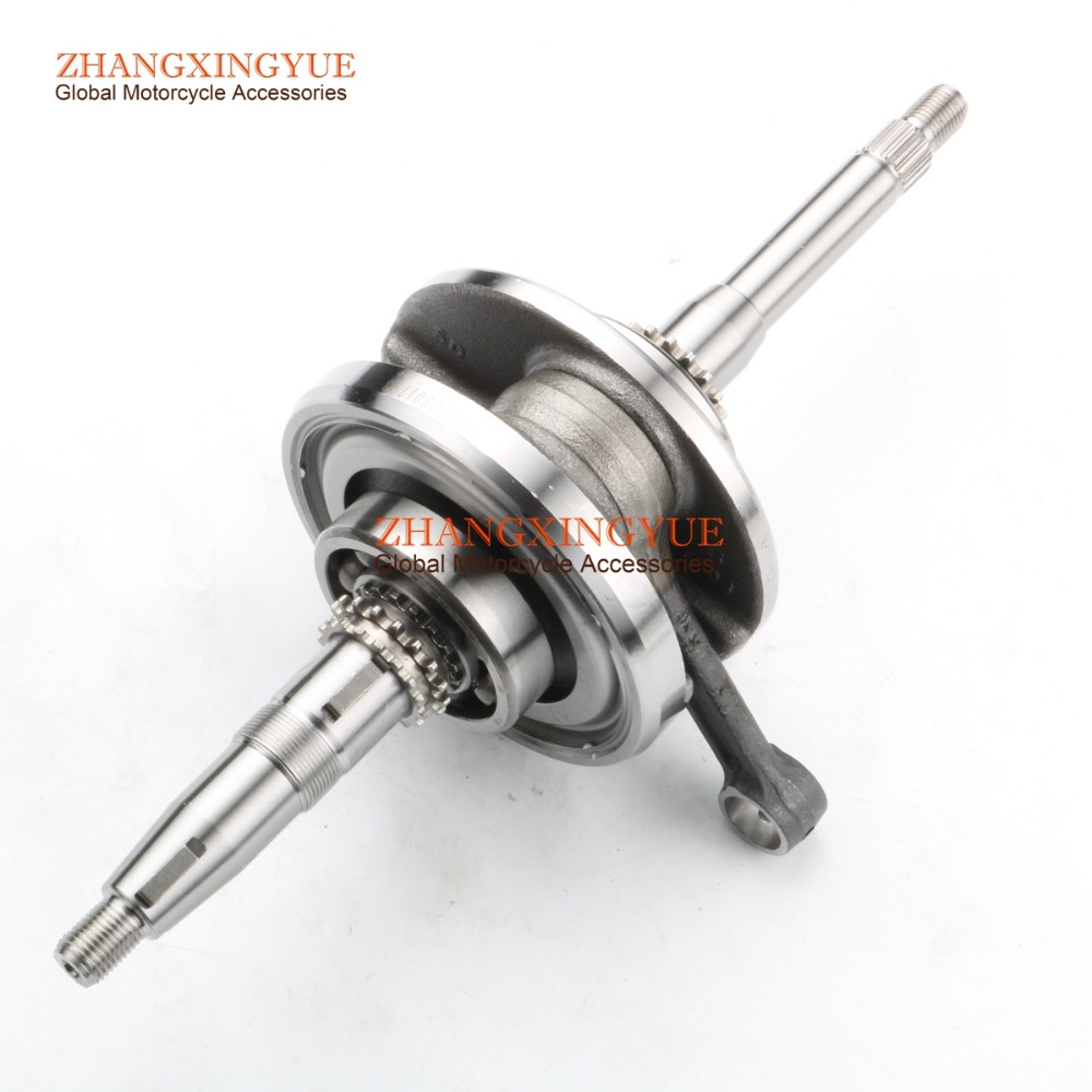 High quality crankshaft for RICH MOTORS Silver 125 4T GY6 125cc 150cc 152QMI 157QMJ high quality crankshaft gy6 125 150cc scooter engine crankshaft 152qmi 157qmj spare parts ycm drop shipping