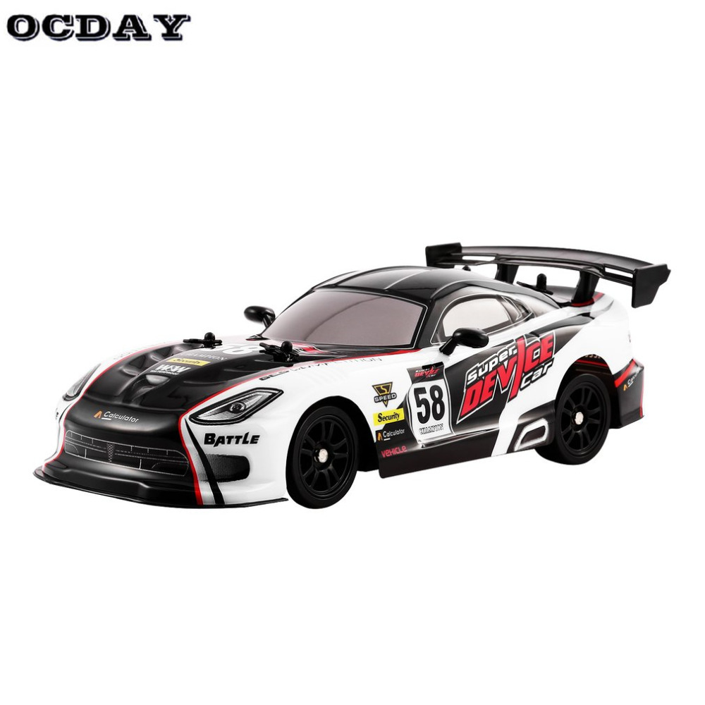 OCDAY RC Car Radio Remote Control Toys 27MHz 4WD High Speed On Road Racing Car RTR Drifting RC Vehicle Toys for Children Gifts
