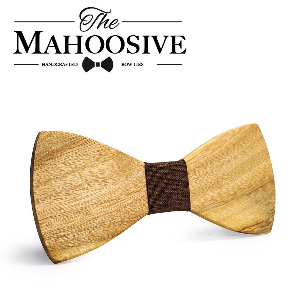 MAHOOSIVE Klassische 100% Soild Holz Mens Ties Neues Design Krawatten - Bekleidungszubehör - Foto 5