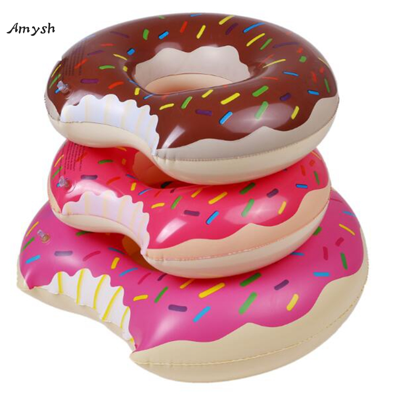 Amysh 60-80cm Giant Pool Floats kids Super Large Gigantic Doughnut Pool Inflatable Life Buoy Swimming Circle inflatable toys