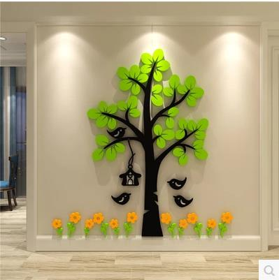 Creativo de árbol de dibujos animados 3d adhesivo de papel para pared habitación dormitorio sofá TV Fondo auto-adhesivo, decoración-100 6 LEDs PIR Sensor de movimiento luz de noche Auto On/Off para dormitorio escaleras armario inalámbrico USB recargable lámpara de pared