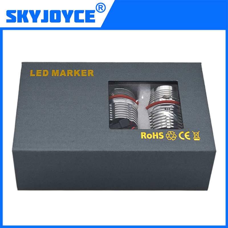 2017 SKYJOYCE 60W led marker kit E39 E60 E63 E65 E53 E83 E87 led angel eyes kit X3 halo ring kit white red blue green yellow новое
