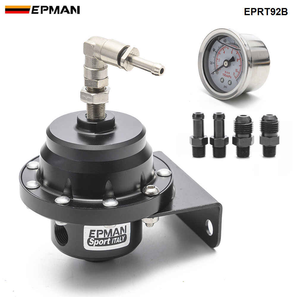 Epman سباق العالمي قابل للتعديل منظم ضغط الوقود النفط مقياس AN6 1/8NPT المناسب EPRT92B
