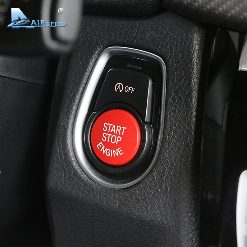 Airspeed for BMW E90 E91 E92 E93 E60 E84 E83 E70 E71 F30 F15 F25 F10 F20 F01 G30 Accessories Car Engine Start Button Stickers