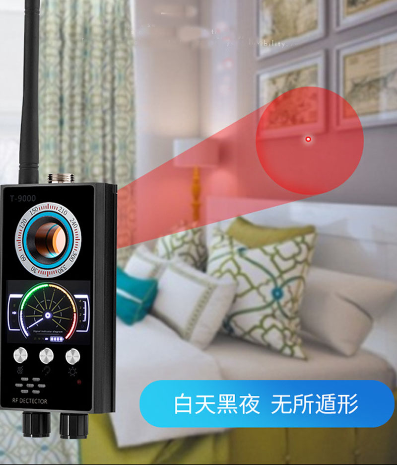 2019  Anti-candid,Anti-tracked,Anti-spy,Anti Eavesdroped Detector Infrared Camera Scanner Earphone Secret Safety(balck