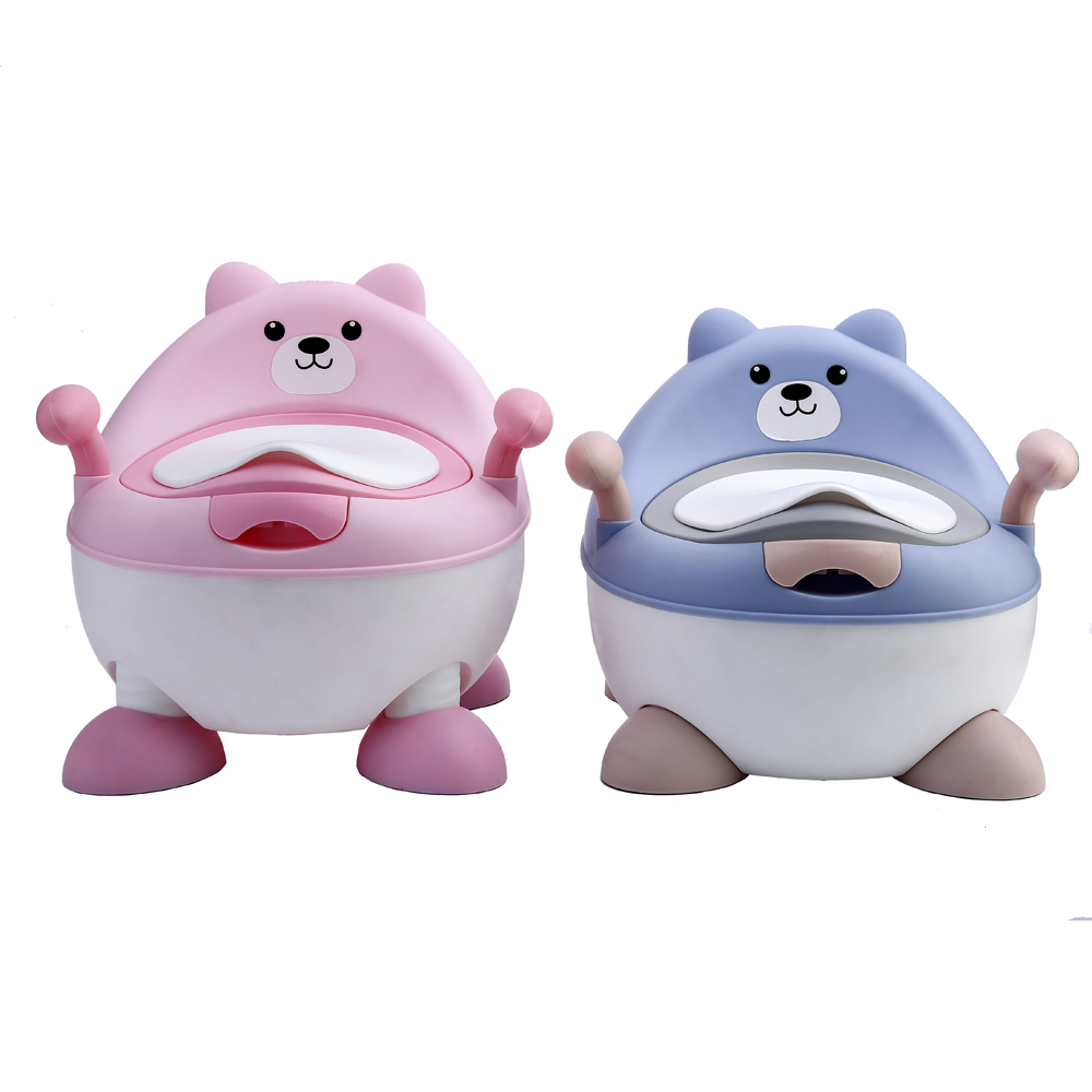 Baby Potty Toilet Training Portable Plastic Child Potty Trainer Kids Indoor Baby Potty Chair For Free Potty Brush+cleaning Bag