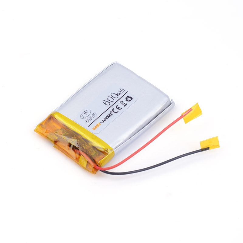 603035 600MAH 3.7V lithium polymer battery For MP3 MP4 MP5 GPS SD recorder battery pack medical device