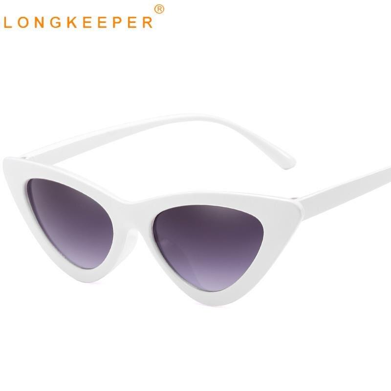 LongKeeper Fashion Cat Eye Sunglasses Women Vintage Sun glasses Female eye Eyewear UV400 Shades