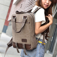 Fashion Canvas Laptop Bag 14 Inch Solid Travel Backpack 2018 New Style Computer PC Ziper Bag For Women Men Girls For Macbook
