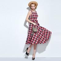 Sisjuly Women A Line Dress Plaid Pullover Round Neck Cotton Summer 2018 Modern Fashion Female Girls