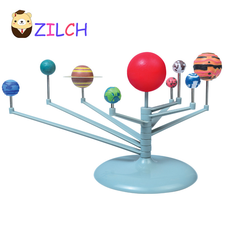 2018 ZILCH DIY The Solar System Nine planets Planetarium Model Kit Science Astronomy Project Early Education For Children