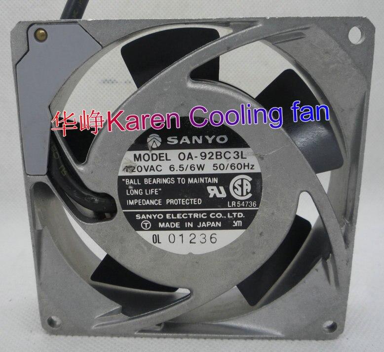 SANYO 9CM 92*92*25MM 9225 120V OA-92BC3L 120VAC 6.5/6W Cooling fan mkp5000 241b 92