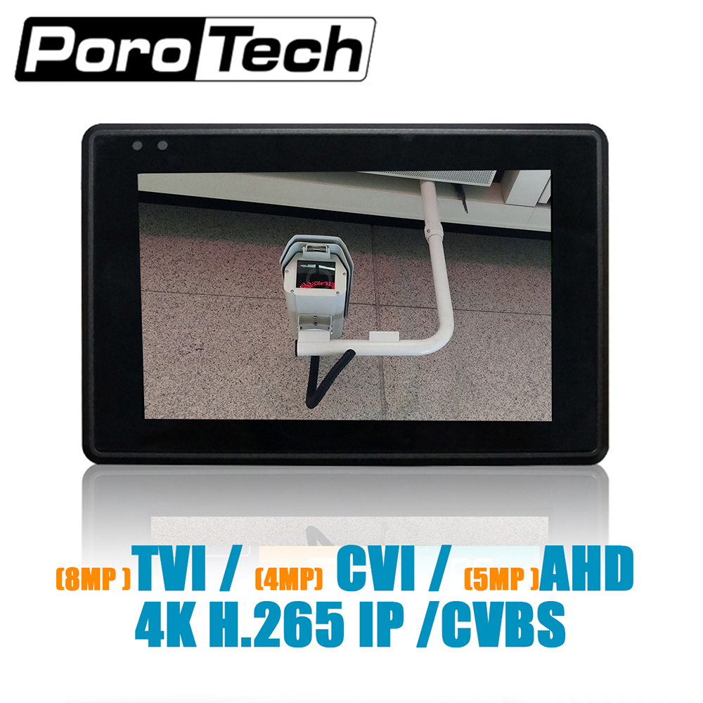 IPC1800 plus 4 IP Caméra Testeur moniteur CCTV TVI CVBS Analogique Vidéo Test PTZ Contrôle Tactile Écran H.265 4 K 5MP 1080 P avec WIFI