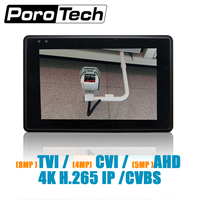 IPC1800 plus 4 IP Camera Tester monitor CCTV TVI CVBS Analog Video Test PTZ Control Touch Screen H.265 4K 5MP 1080P with WIFI