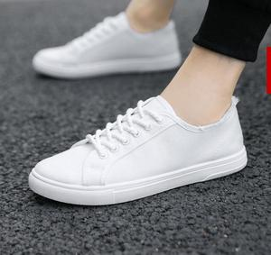 Image 3 - Canvas shoes, boys, white shoes, breathable sports, casual mens shoes