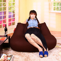 LEVMOON Free Shipping Beanbag Seat Chiar Covers Without Filling Big Sofa Seat Zac